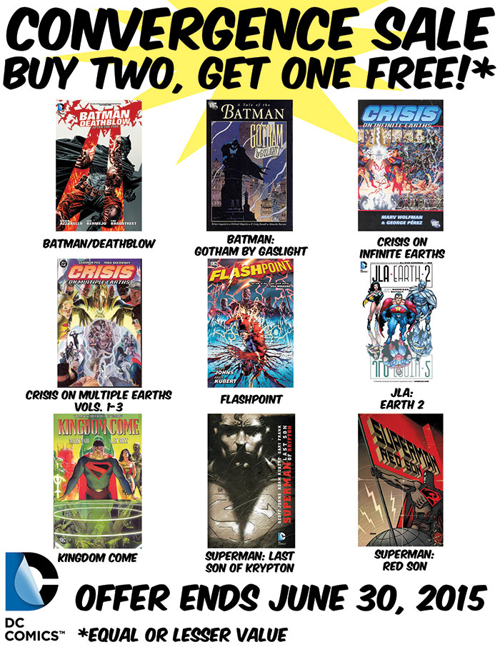 CONVERGENCE BUY TWO, GET ONE SALE