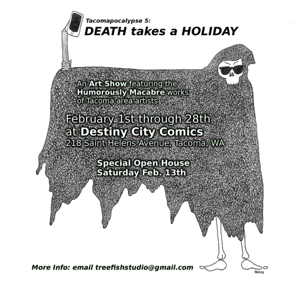Death Takes a Holiday art show by Tacomapocalypse Alliance