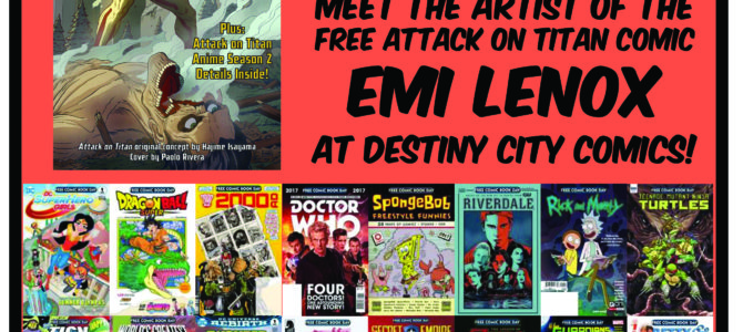 Destiny City Comics Free Comic Book Day 2017