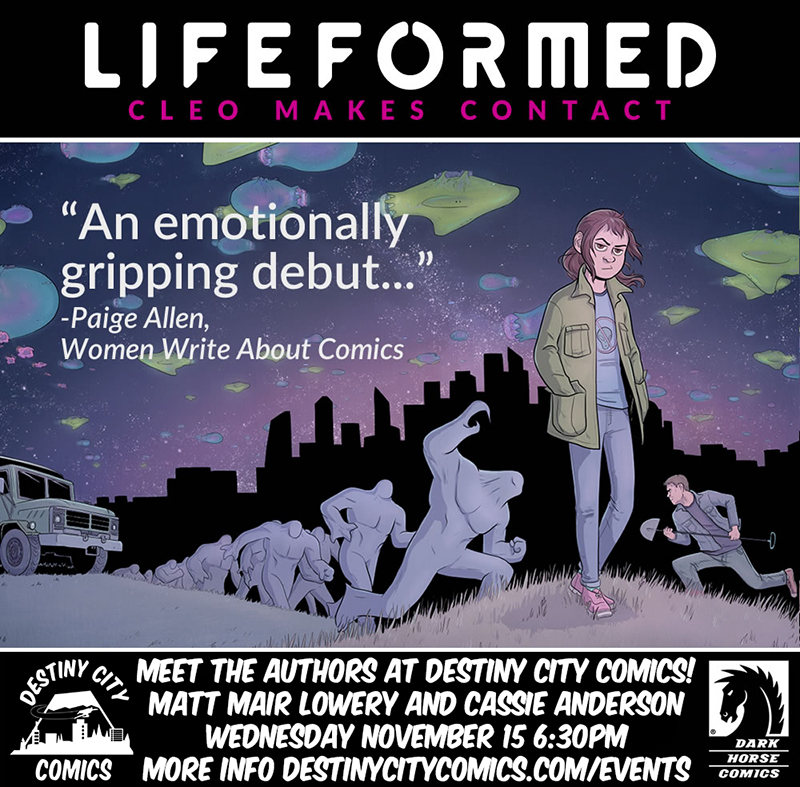 Meet the Authors! Lifeformed: Cleo Makes Contact Signing