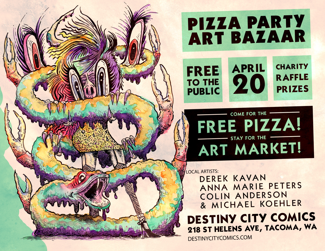 Pizza Party Art Bazaar!