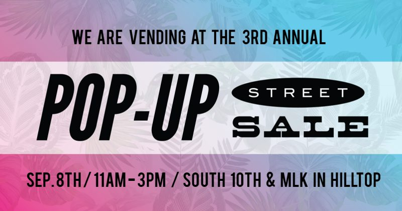 3rd Annual Hilltop Pop-Up Street Sale